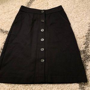 Trina Turk bottom down knee length lines skirt